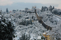 Forte belvedere in florence with snow Stock Image