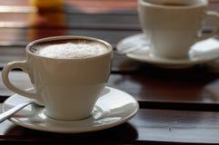 Forte caffè del caffè espresso due ostinato Immagini Stock Libere da Diritti