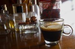 Forte caffè extra spumoso fotografia stock