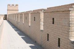 Forte chinês antigo do Grande Muralha de Jia Yu Guan Imagem de Stock