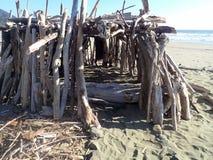Forte da madeira lançada à costa Fotografia de Stock