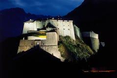 Forte da montanha da noite Fotografia de Stock Royalty Free