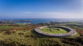 Forte da pedra de Knockdrum FAROL, CORTIÇA DO CO, IRELAND imagem de stock royalty free