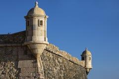 Forte- da Ponta da Bandeira i Lagos Portugal Royaltyfri Foto