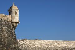 Forte- da Ponta da Bandeira i Lagos Portugal Royaltyfri Fotografi