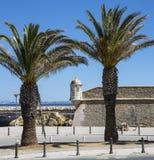 Forte- da Ponta da Bandeira i Lagos Portugal Royaltyfri Bild