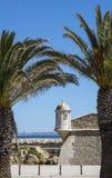 Forte- da Ponta da Bandeira i Lagos Portugal Royaltyfria Bilder
