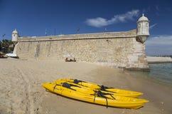 Forte- da Ponta da Bandeira, Lagos, Algarven, Portugal Royaltyfri Foto
