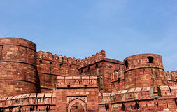 Forte de Agra visto com Amar Singh Gate Foto de Stock Royalty Free
