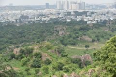 Forte de Golconda, Hyderabad, Índia Fotografia de Stock