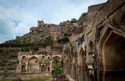 Forte de Golconda, Hyderabad - Índia Fotografia de Stock