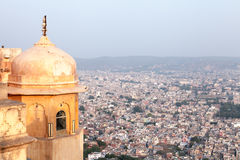 Forte de Nahargah, Jaipur, Rajasthan, Índia Fotos de Stock