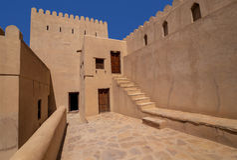 Forte de Nizwa, Omã Fotos de Stock Royalty Free
