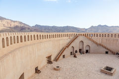 Forte de Nizwa, Oman fotografia de stock
