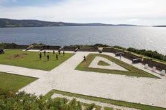 Forte de San Antonio em Ancud, ilha de Chiloe, o Chile fotografia de stock