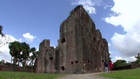 Forte de Zeelandia no rio de Essequibo em Guiana filme