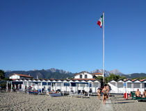 Forte dei Marmi beach in Italy. Holidays at Forte dei Marmi, Italy, in a private beach Stock Image