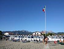Forte dei Marmi beach in Italy Stock Image