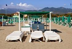 Forte Dei Marmi da praia, Italy Fotografia de Stock Royalty Free
