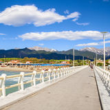 Forte dei marmi pier view on a summer day Royalty Free Stock Image
