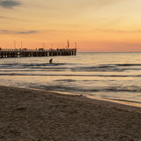 Forte dei marmi pier view on sunset Royalty Free Stock Images