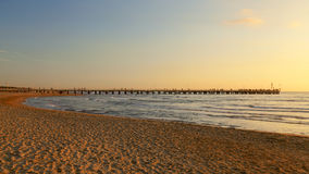 Forte dei marmi pier view on sunset Royalty Free Stock Photography