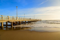 Forte dei marmi pier view Royalty Free Stock Photography