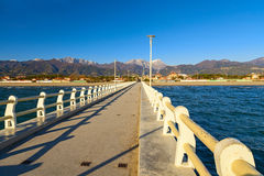 Forte dei marmi pier view Royalty Free Stock Images