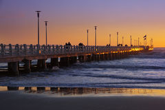 Forte dei marmi's pier at sunset Royalty Free Stock Photo