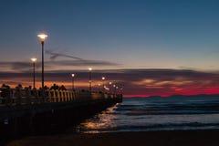 Forte dei Marmi's Pier after sunset Stock Image