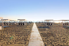 Forte dei Marmi -Strand, Toskana lizenzfreie stockbilder