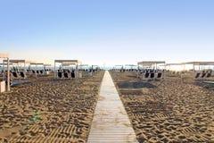Forte dei Marmi strand, Tuscany Royaltyfria Bilder