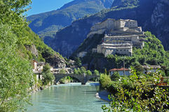Forte Di Bard, κοιλάδα Aosta Στοκ Φωτογραφίες