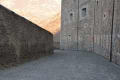 Forte di Bard, inner passage, defensive keep Royalty Free Stock Image