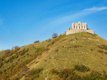 Forte Diamante old abandoned castle at the top of a hill Royalty Free Stock Photo