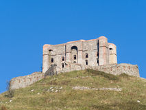 Forte Diamante old abandoned Castle at the top of a steep hill Royalty Free Stock Photo