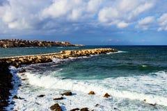 Forte do mar em Ortigia sicília Fotos de Stock