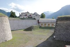 Forte do Mont-Dauphin nas Hautes-Alpes francesas imagens de stock royalty free