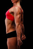 Forte donna muscolare Immagini Stock Libere da Diritti