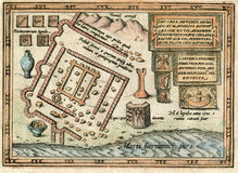 Forte e cidade romanos antigos de Lugdunum Batavorum Fotos de Stock Royalty Free