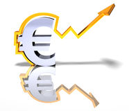 Forte euro illustrazione di stock