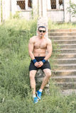 Forte giovane atleta Fotografia Stock
