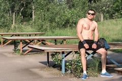 Forte giovane atleta Fotografia Stock Libera da Diritti