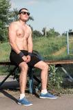 Forte giovane atleta Fotografie Stock