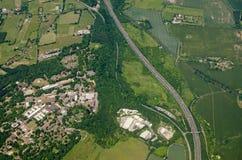 Forte Halstead, Kent - vista aérea fotografia de stock