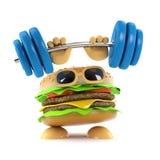 forte hamburger 3d illustrazione di stock