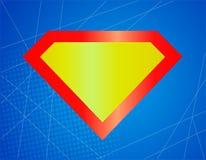 Forte icona brillante famosa del supereroe, simbolo, elemento, segno Schermo, superman dell'emblema fotografie stock