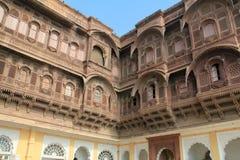 Forte interno de Mehrangarh imagens de stock