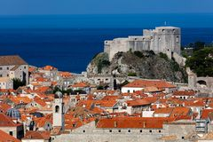Forte Lawrence em Dubrovnik, Croácia imagem de stock