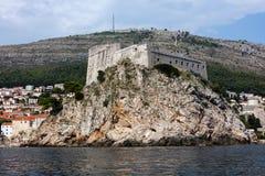 Forte Lawrence em Dubrovnik, Croácia imagens de stock royalty free